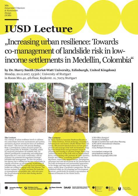 Msc Integrated Urbanism Sustainable Design Iusd News
